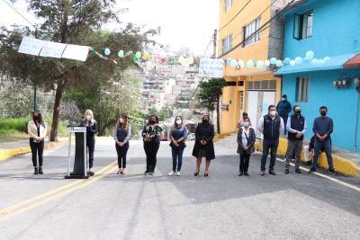 Mejoran comunicación en Huixquilucan con dos nuevas calles