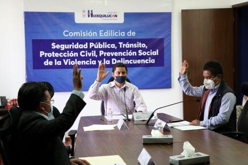 Informan de acciones de la Policía de Huixquilucan contra el COVID-19