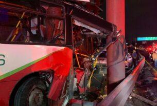 Mexibús accidentado deja 11 heridos