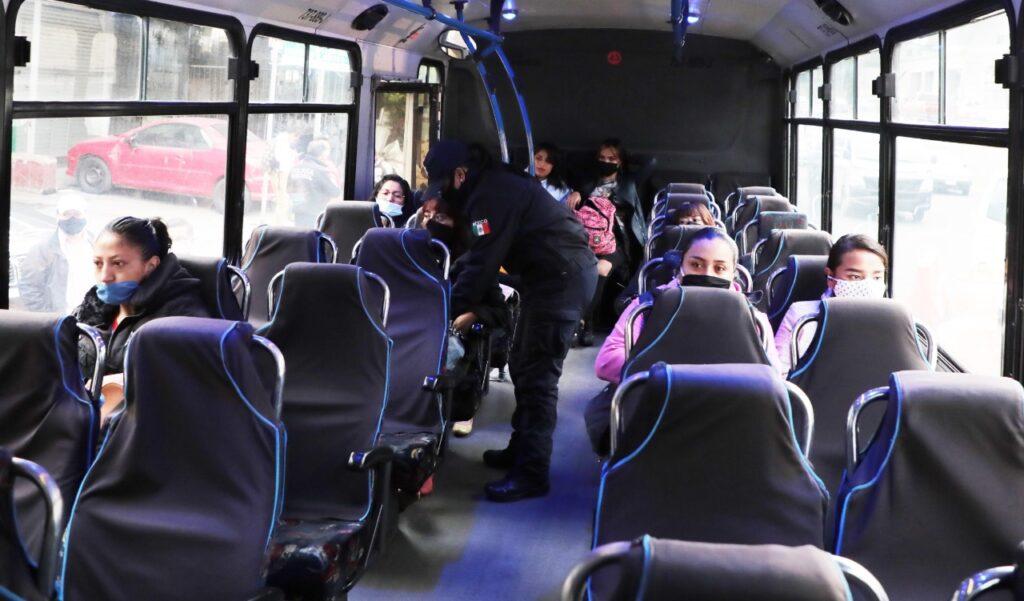 Evitan asaltos en transporte de Naucalpan, bajo estrategia