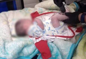 Bebé encontrado en Tepeolulco, Tlalnepantla