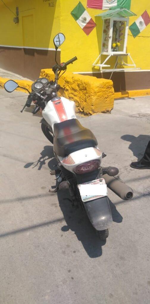 Motocicleta ya en manos de su dueño