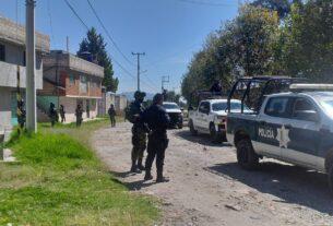 Despliegue de corporaciones en Almoloya de Juárez para evitar festejos