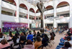 En el patio del Palacio de Gobierno de Atizapán, la ceremonia por la víctimas del 2 de Octubre del 68