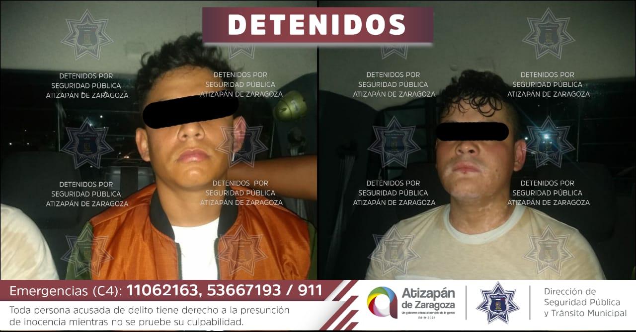 Los detenidos en Atizapán