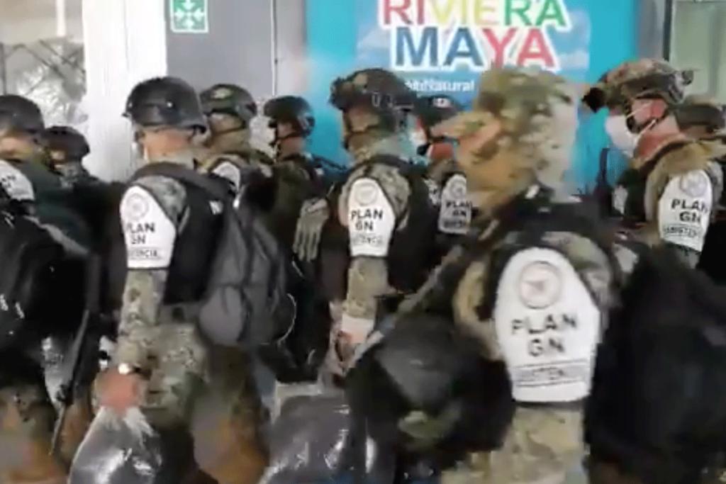 Guardia Nacional en la Península de Yucatán