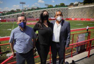 Patricia Durán Reveles en el inicio de la temporada de La liga Balompié Mexicano