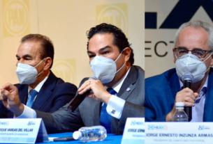 Pedro Rodríguez, Enrique Vargas y Jorge Inzunza