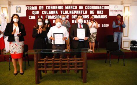 Convenio para respeto de derechos humanos en Tlalnepantla