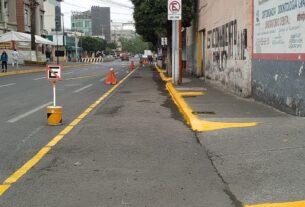 Listo el espacio para bicicletas en Tlalnepantla