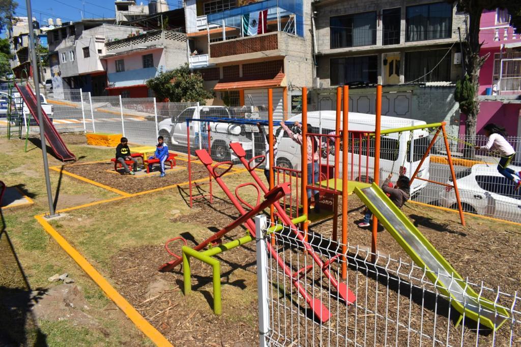 Parque para que los niños crezcan sanos en Naucalpan