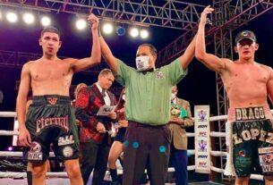 """Gabriel """"Drago"""" López ganó, el pasado 19 de noviembre, el campeonato Latino de peso supermedio que reconoce el Consejo Mundial de Boxeo"""