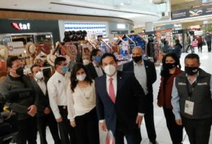 El alcalde de Huixquilucan, Enrique Vargas del Villar y empresarios inician el Buen Fin en Huixquilucan