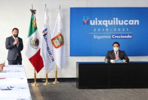 El presidente municipal de Huixquilucan, Enrique Vargas del Villar, informa de saldo blanco por la estrategia durante el ciclo de lluvias