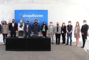 Alcalde Enrique Vargas y regidores de Huixquilucan en aprobaciòn de presupuesto