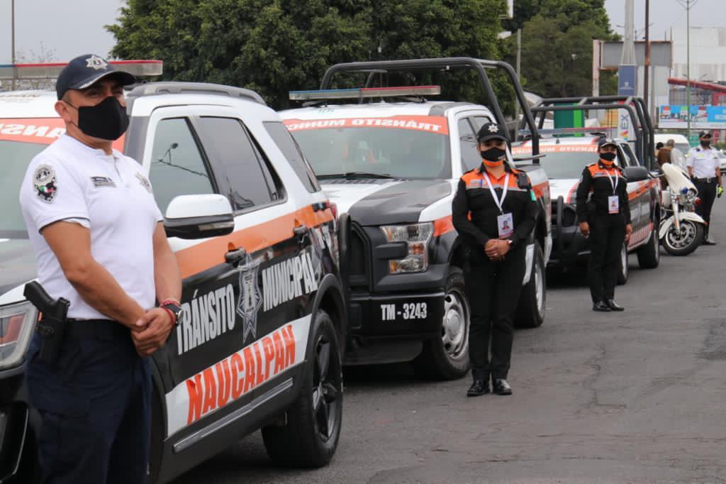 Despliegue policiaco para evitar delitos y contagios en Naucalpan