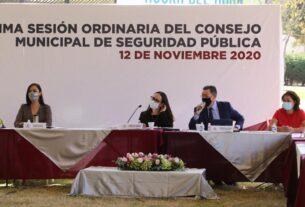 Reunión del Consejo de Seguridad Municipal de Naucalpan