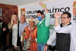 Dirigente del PVEM, José Alberto Couttolenc Buentello después de acto de sanación