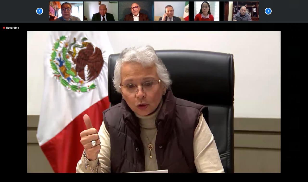 La secretaria de Gobernación, Olga Sánchez Cordero, en el reconocimiento a Tlalnepantla