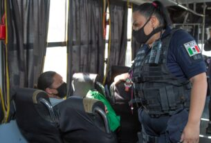 Policía de género, parte del despliegue de seguridad en unidades del transporte