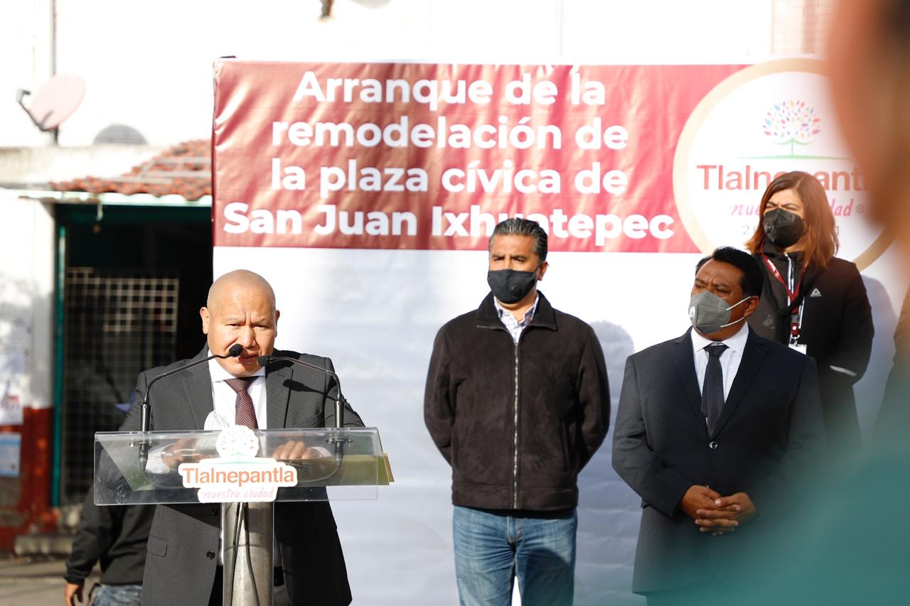 En San Juan Ixhuatepec anuncian remodelación de plaza y calles