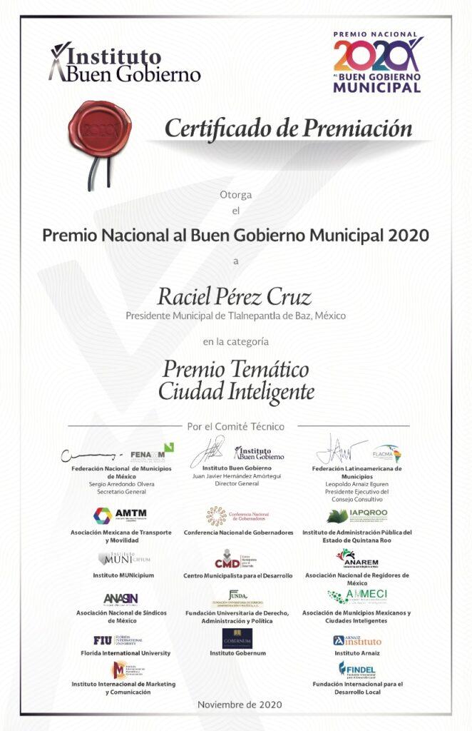 Reconocimiento por proyecto educativo a Tlalnepantla