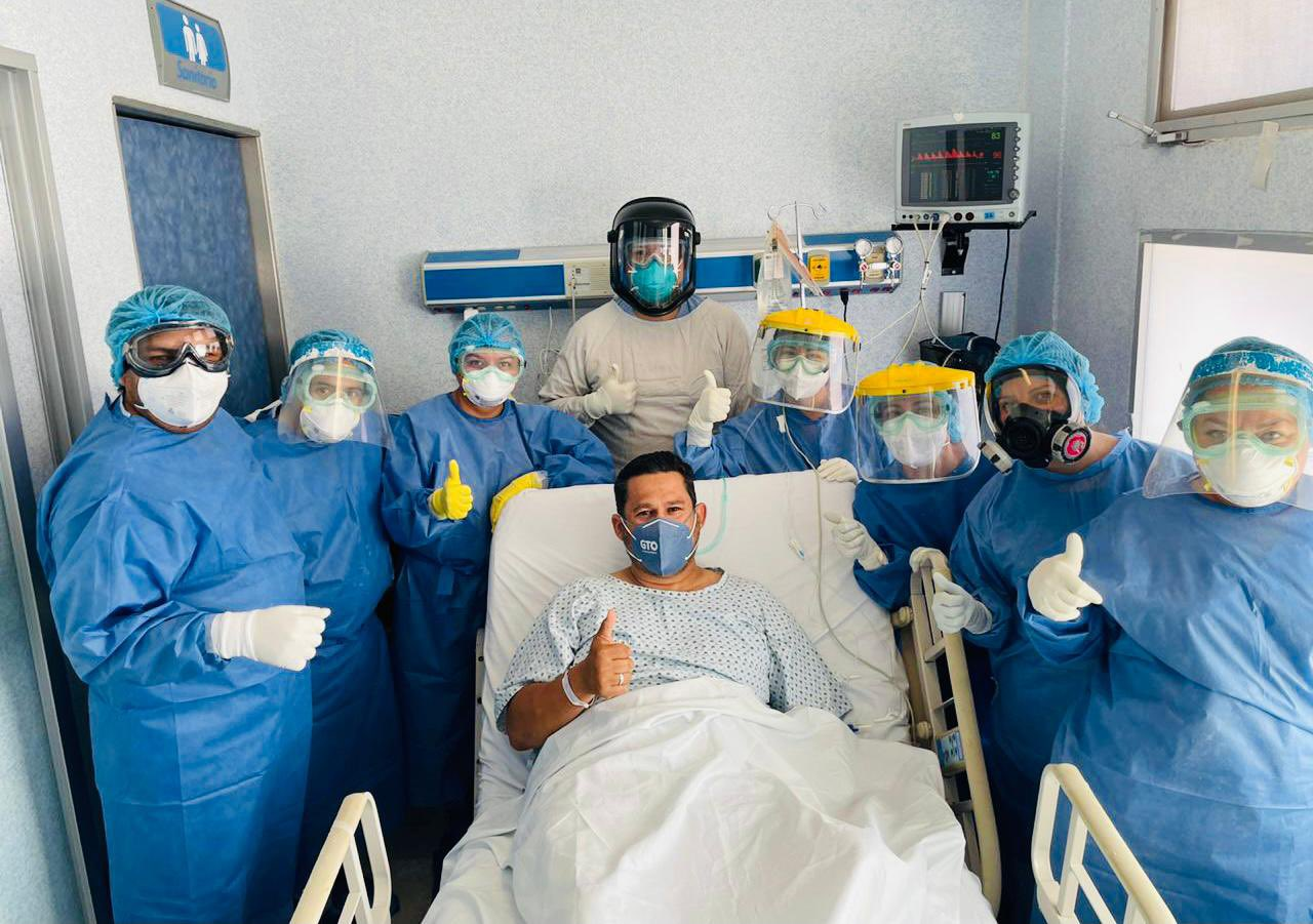 Diego Sinhue cuando fue atendido en un hospital de Silao