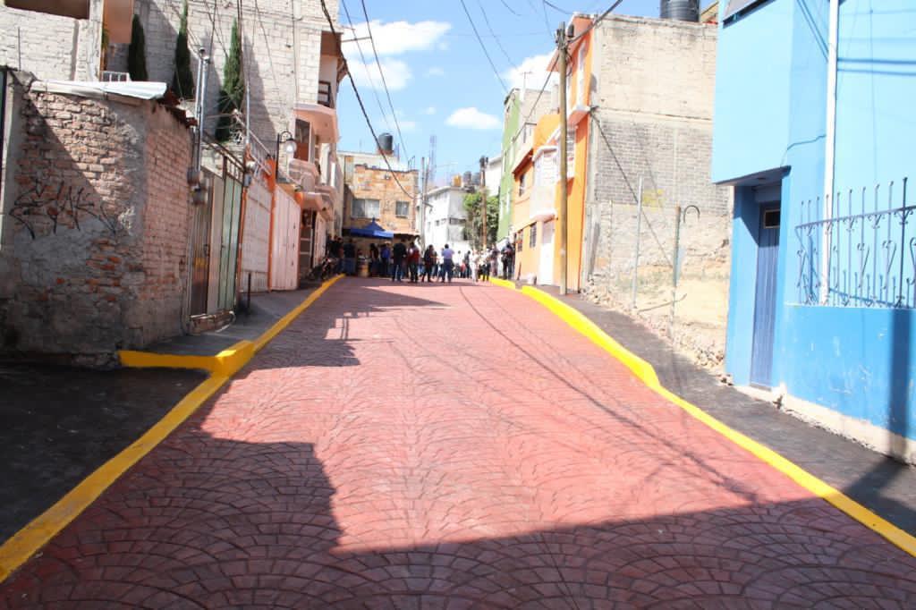 Calle Ignacio Zaragoza, renovada luego de que estuvo a punto de hundirse