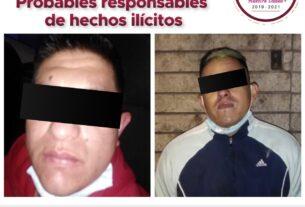 Detenidos por policías de Tlalnepantla