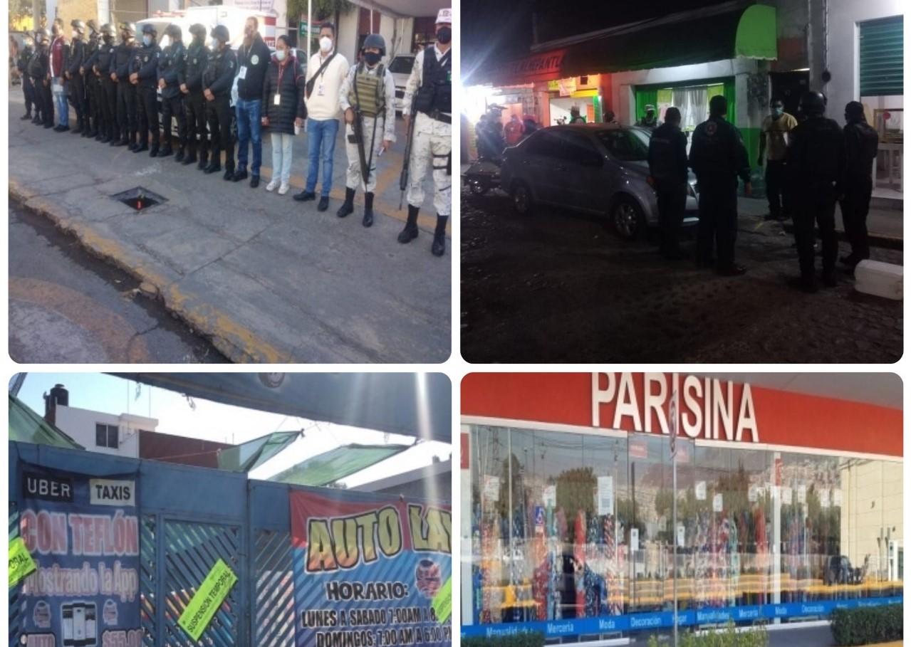 Uniformados y personal del Ayuntamiento de Tlalnepantla realizan perifoneos