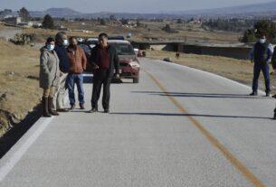 Inauguran carretera y amplían abasto de agua en Almoloya de Juárez