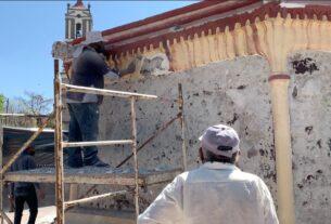 Renuevan basamento de la cruz atrial de Cuautitlán