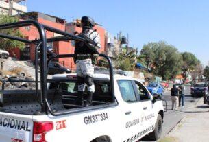 Guardia Nacional en recorridos de vigilancia en Naucalpan