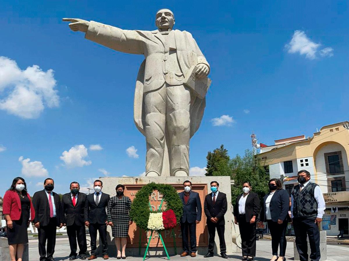 Rinden homenaje al Benemérito de las Américas, Benito Juárez, en Almoloya de Juárez