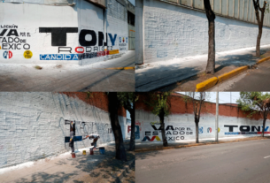 Denuncia alianza Va por Estado de México que despintaron sus bardas