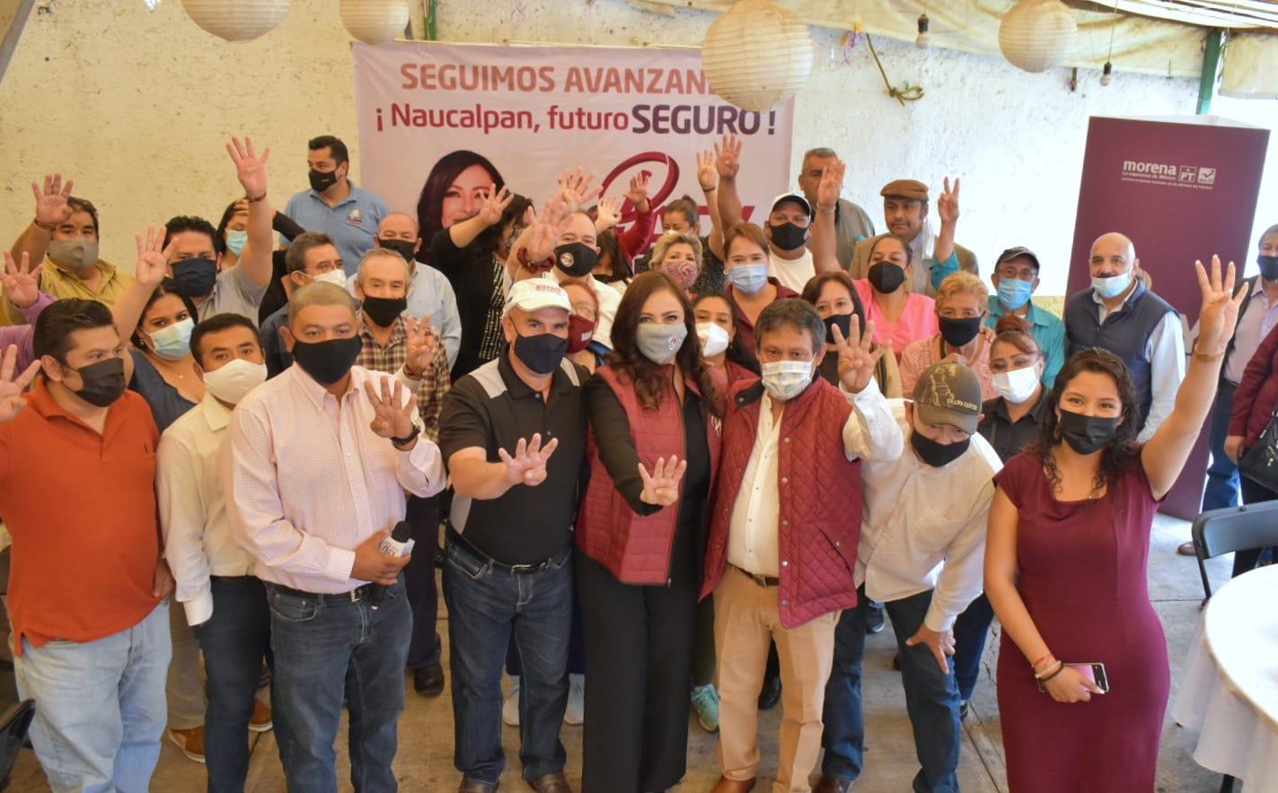 Patricia Durán reveles reunida con dirigentes de mercados y delegados