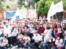 Un buen número de ciudadanos con Raciel Pérez Cruz