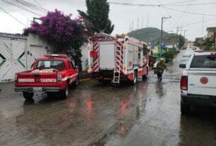Personal, equipo y maquinaria de PC y Bomberos de Tlalnepantla llegan antes a sitios donde prevén inundaciones