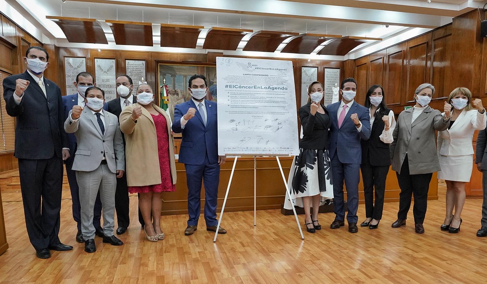 Diputados de PAN Edomex, comprometidos contra el cáncer
