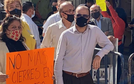 Comerciantes en contra del cierre de calles en el Zócalo
