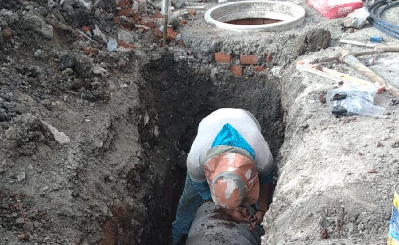 Instalan drenaje en Cuautitlán