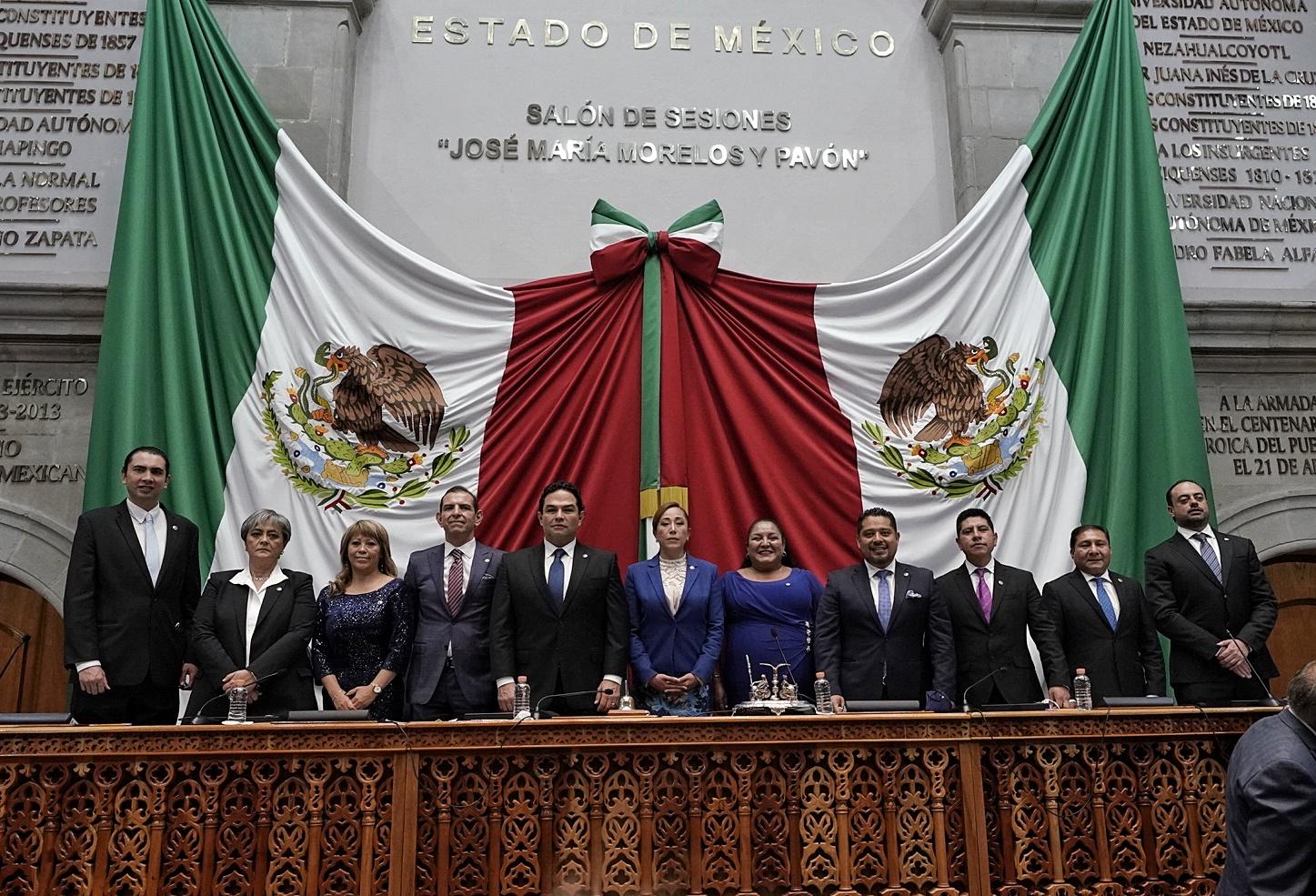 La Mesa Directiva de la Legislatura del Estado de México será presidida por diferentes partido cada año