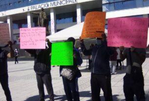 Policías en protesta por falta de pagos en Naucalpan