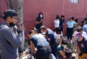 Socorristas de Tlalnepantla atienden a los menores accidentados